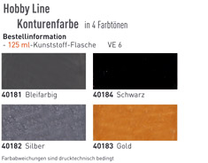 Farbkarte Hobby Line Window Color C2 Konturenfarbe Glas Design