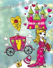 Beipiel Marabu fun fancy Window Color Set Princess World