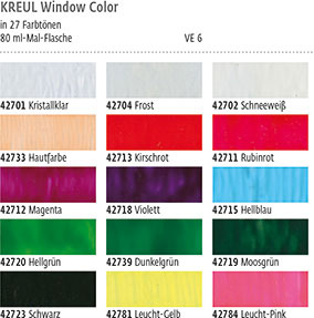Farbkarte KREUL Window Color Farbe