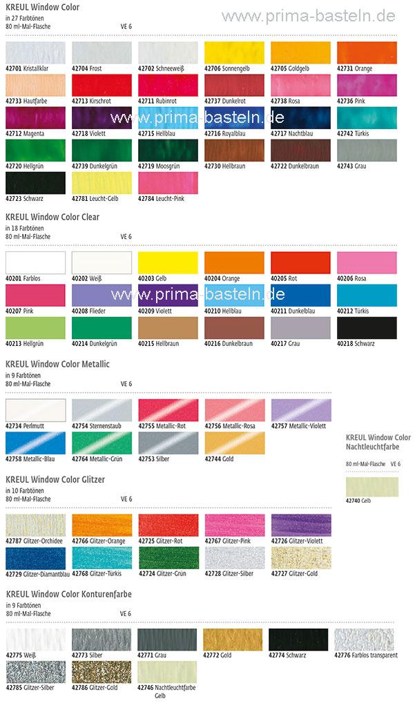 kreul window color set fashion designer prima basteln. Black Bedroom Furniture Sets. Home Design Ideas