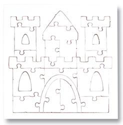 creleo 790088 puzzle zum bemalen viereck 54 teile 10 st ck selbst gestalten mit rahmen vos. Black Bedroom Furniture Sets. Home Design Ideas