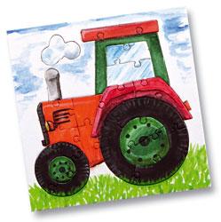 mini puzzle traktor 10 st ck prima basteln. Black Bedroom Furniture Sets. Home Design Ideas
