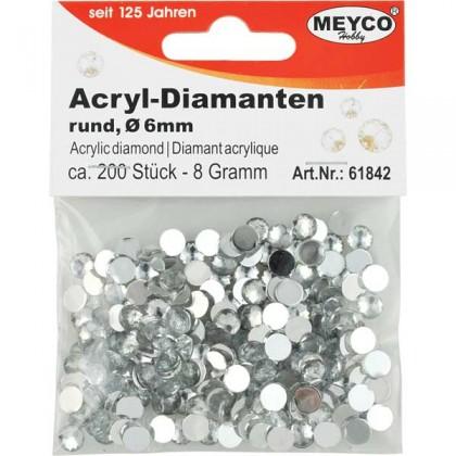 acryl diamanten deko diamanten rund 6 mm prima basteln. Black Bedroom Furniture Sets. Home Design Ideas