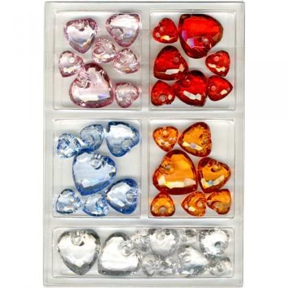 acryl diamant herzen set acryl herzen prima basteln. Black Bedroom Furniture Sets. Home Design Ideas