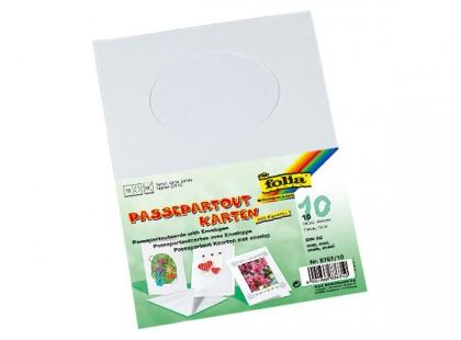 "Passepartoutkarten ""Oval"", 10 Stück"