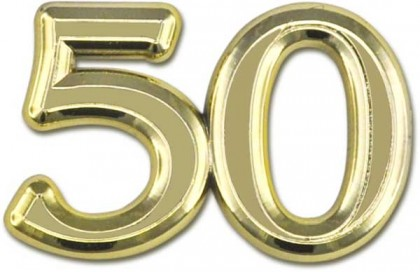 Deko Ziffer Jubilaum 50 Gold Prima Basteln