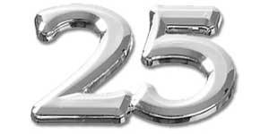 Deko Ziffer Jubilaum 25 Silber Prima Basteln