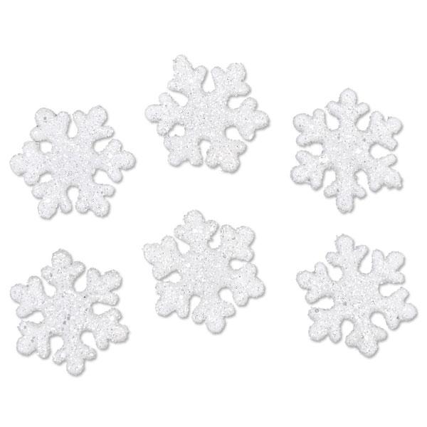 Deko-Eiskristalle Glitter-Weiß, 20 Stück
