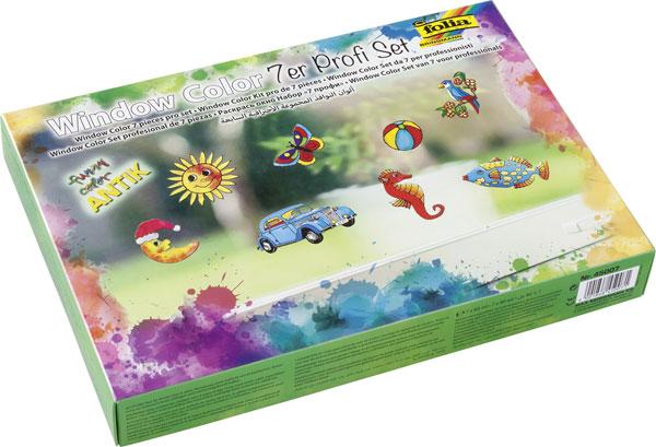 Folia Window-Color-Set Antik mit 7 Farben