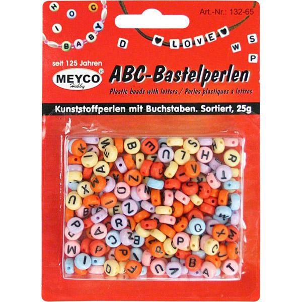 ABC-Bastelperlen, rund