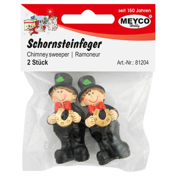 Deko-Figuren Schornsteinfeger mit Hufeisen