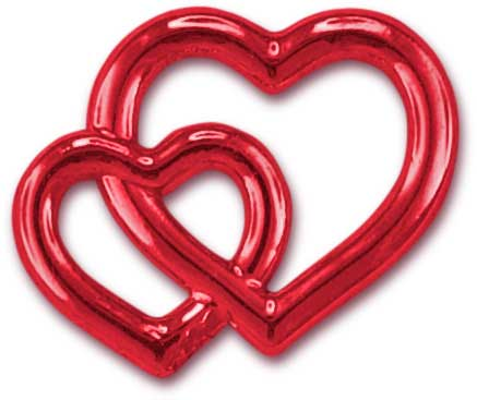 Deko-Herzen, rot