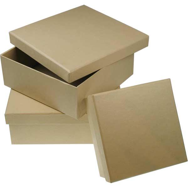 Pappschachtel - quadratisch, 3er-Set