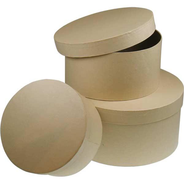Pappdose - Hutschachtel, rund