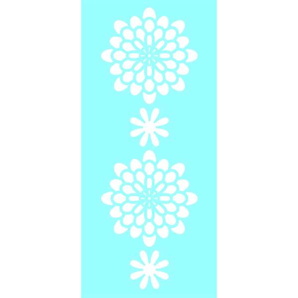 "Marabu Glas-Tattoo Schablone ""Flower Stars"""