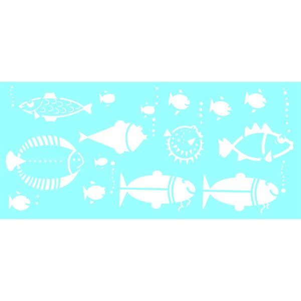 "Marabu Glas-Tattoo Schablone ""Fisch Family"""