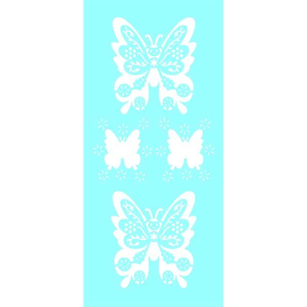 "Marabu Glas-Tattoo Schablone ""Butterfly"""
