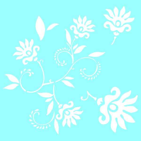 "Marabu Glas-Tattoo Schablone ""Dancing Flowers"""