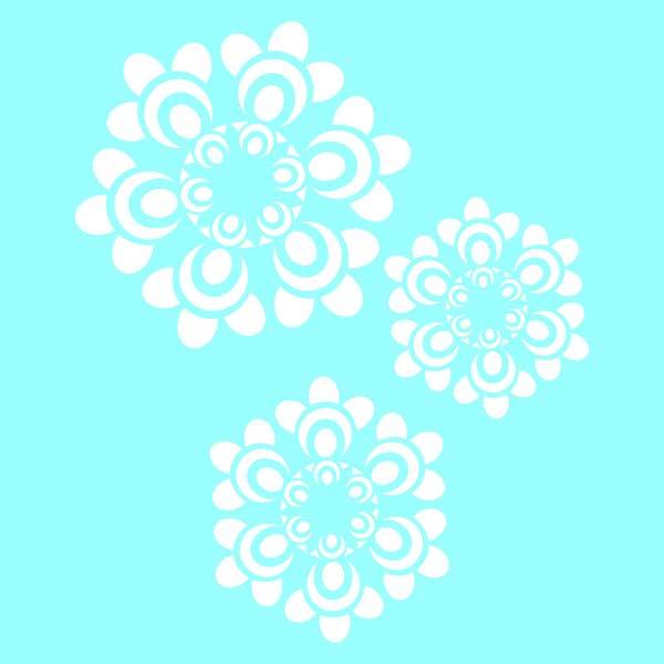 "Marabu Glas-Tattoo Schablone ""Funny Flowers"""