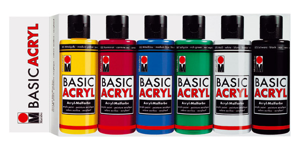 Marabu Basic Acrylfarben-Set