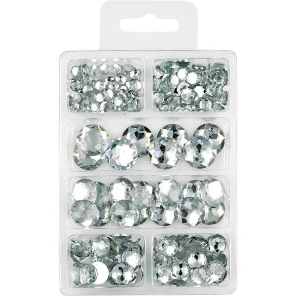 Acryl-Diamanten-Set klar, rund