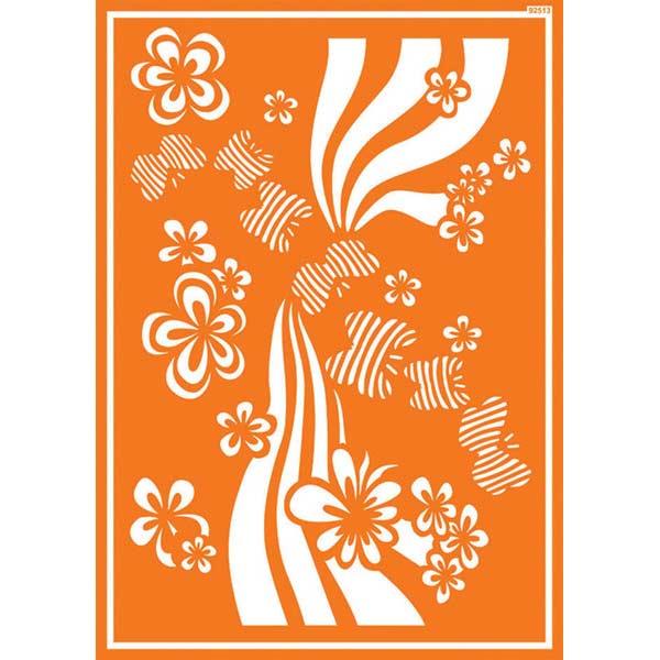 JAVANA Textil-Schablone Flower Power
