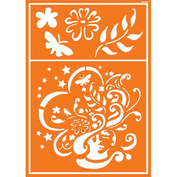 JAVANA Textil-Schablone Flower Girl