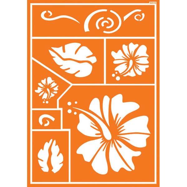JAVANA Textil-Schablone Hawaii Flower