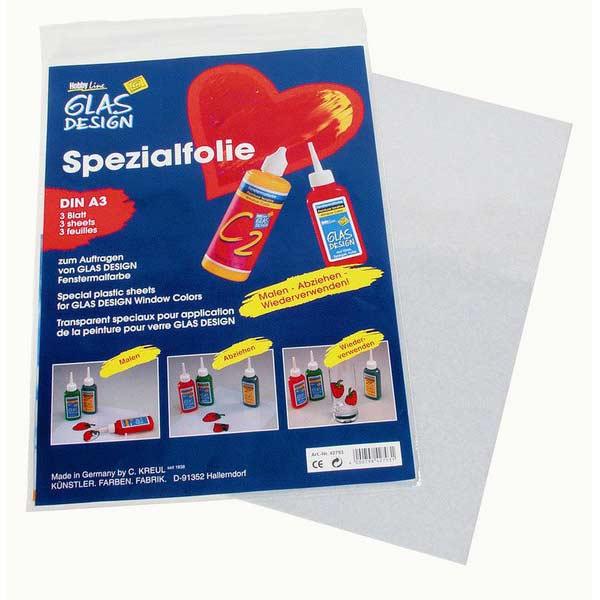 GLAS DESIGN Spezialfolie, 3 Blatt