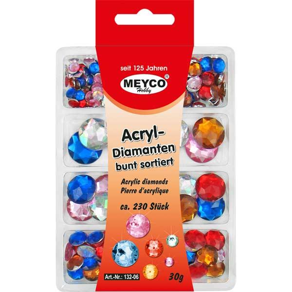 Acryl-Diamanten-Set bunt sortiert, rund
