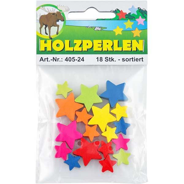 """Holzperlen-Set """"Sterne"""""""