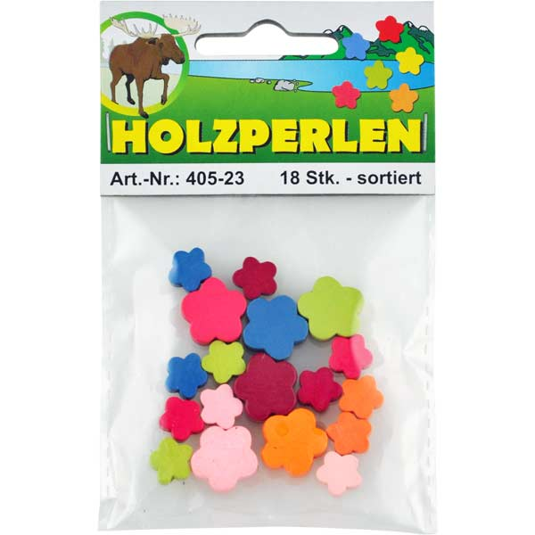 """Holzperlen-Set """"Blüten"""""""