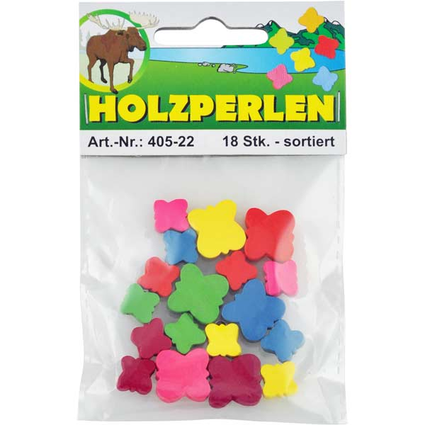 "Holzperlen-Set ""Schmetterlinge"""