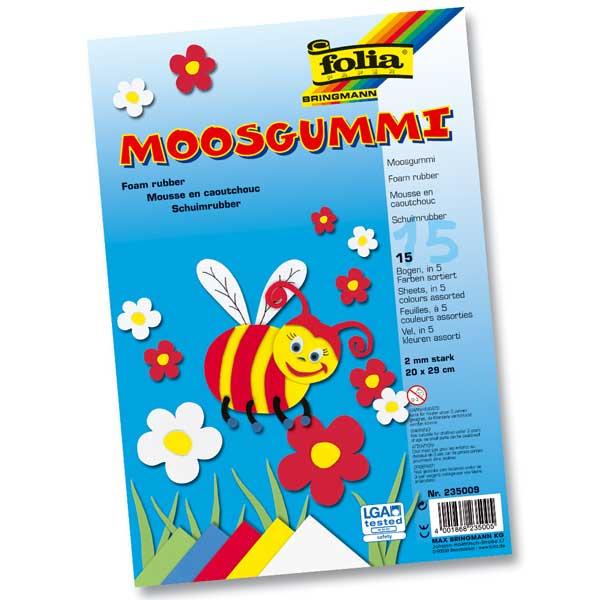 Moosgummi-Set, 15 Bogen 20 x 29 cm