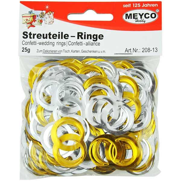 """Deko-Streuteile """"Ringe"""", 25 Gramm"""