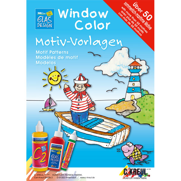 "Window Color Malvorlagen ""Sommer/Maritim"""