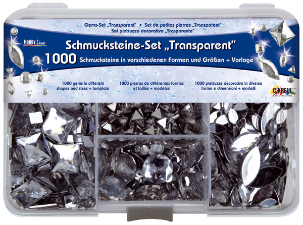"Schmucksteine-Set ""Transparent"""