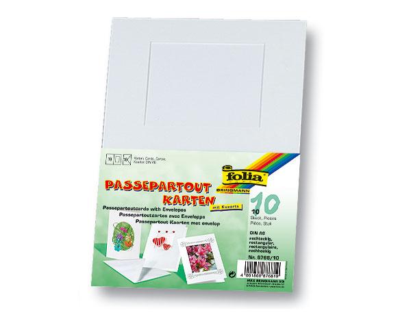 """Passepartoutkarten """"Rechteckig"""", 10 Stück"""