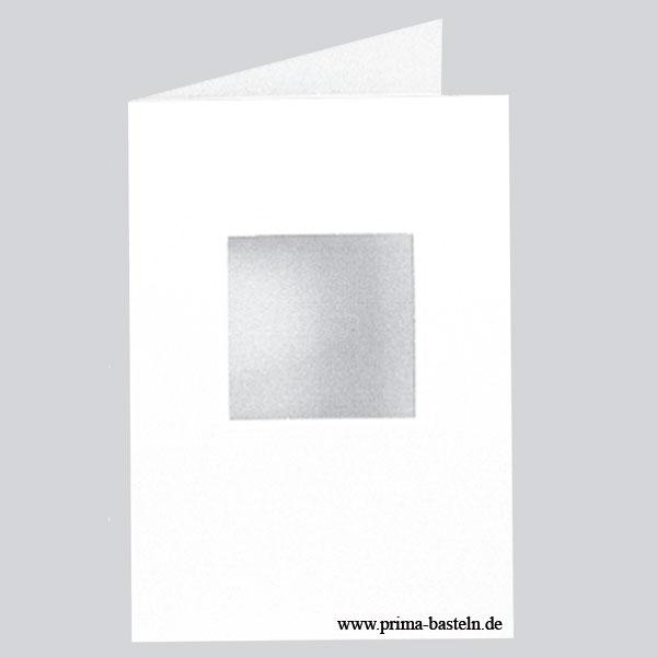 "Passepartoutkarten ""Quadratisch"", 10 Stück"