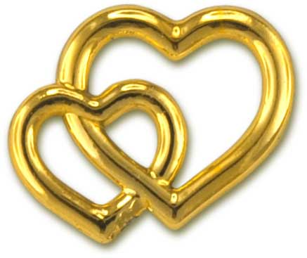Deko-Herzen, gold
