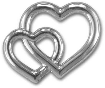 Deko-Herzen, silber