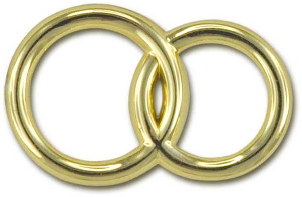 Deko-Eheringe, gold