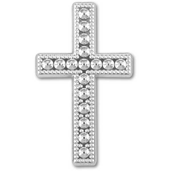Deko-Kreuz, silber