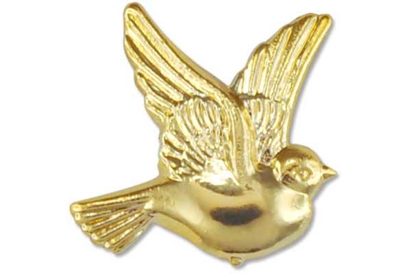 Deko-Tauben, gold