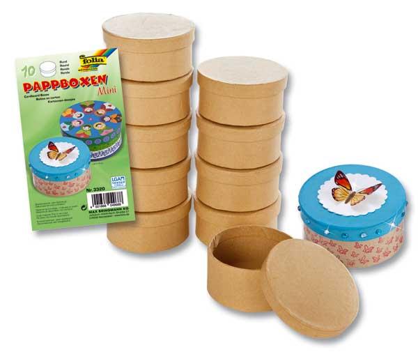 Mini-Pappboxen, 10er-Set, Rund