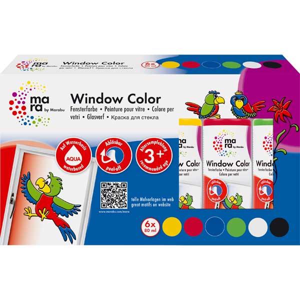 mara Window Color Set, 6 Farben je 80 ml