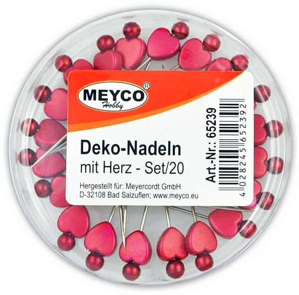 Deko-Nadeln Herz, 20 Stück