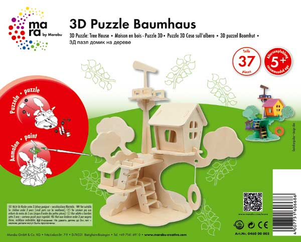 "3D Holz-Puzzle ""Baumhaus"""