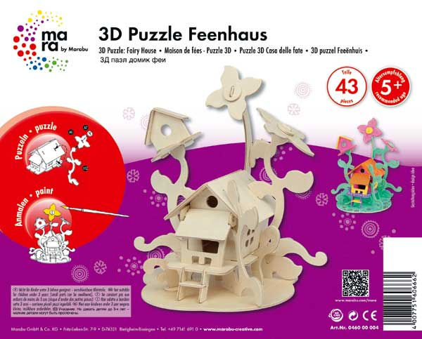"""3D Holz-Puzzle """"Feenhaus"""""""