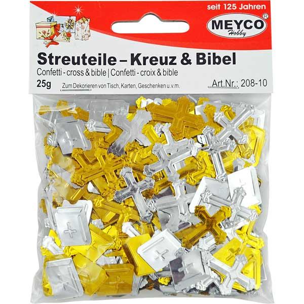 Deko-Streuteile, Kreuz & Bibel